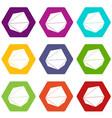 origami stone icons set 9 vector image
