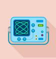 oscilloscope icon flat style vector image