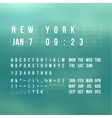 Outline countdown timer and date flat calendar vector image