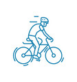 participation in cycling linear icon concept vector image