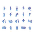pictograph persons and sickness icon set gradient vector image vector image