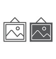 picture line and glyph icon home and frame photo vector image vector image