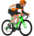 racing bicyclist vector image vector image