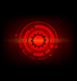 red color abstract background digital technology vector image vector image