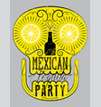 retro grunge mexican tequila party poster vector image vector image