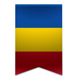 Ribbon banner - moldovan flag vector image vector image