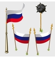 Russia flag icons vector image vector image