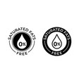 saturated fats free icon food package seal vector image