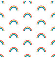 seamless pattern with rainbows on white vector image vector image