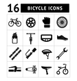 Set icons of bicycle biking bike parts vector image vector image