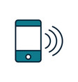 smartphone wifi signal internet things line and vector image