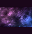 space background realistic cosmos texture starry vector image vector image