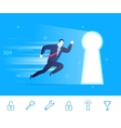 success Businessman go to vector image vector image