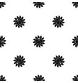 sun pattern seamless black vector image