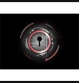 Technological abstract cyber security lock