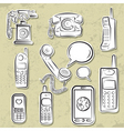 telephones collection vector image vector image