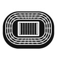 top sport arena icon simple style vector image