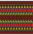 Traditional Christmas seamless horizontal pattern vector image