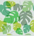 wallpaper exotic leaves - seamless pattern vector image