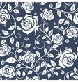 White and gray roses seamless pattern vector image