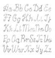 silver brushed latin alphabet vector image