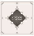 Vintage ornament frame Retro wedding invitations vector image