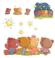 a group of teddy bears vector image vector image