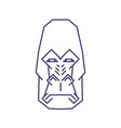 abstract gorilla head lineart on white background vector image
