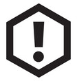 attention icon black vector image vector image