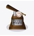 Baseball design sport icon Colorful vector image vector image