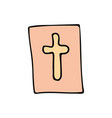bible cartoon hand drawn icon vector image