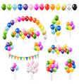 big colorful set balloons isolated vector image vector image