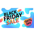 black friday sale advertising blue and white web vector image
