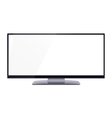 Blank wide computer screen for copy space vector image vector image