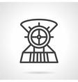 Boat steering wheel line icon vector image vector image