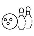 bowling club icon outline style vector image