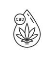 cannabis oil icon vector image vector image