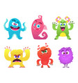 cartoon monsters goblin gremlin troll scary cute vector image vector image