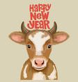 character design year ox animal zodiac vector image vector image