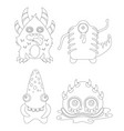 childrens coloring page with funny cartoon vector image vector image