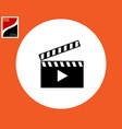 clapperboard with a cracker for shooting a movie vector image vector image