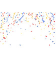 colorful confetti celebration carnival ribbons vector image