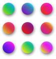 colorful round icon templates isolated on white vector image vector image