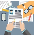 concept of human resources management finding vector image vector image