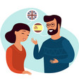 couple speaking different languages vector image