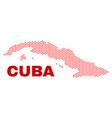 cuba map - mosaic of valentine hearts vector image vector image