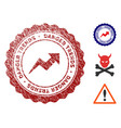 danger trends stamp with grunge texture vector image vector image