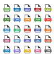 document format sign set file flat icons vector image vector image