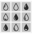 drop black icons vector image vector image