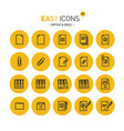 easy icons 14c docs vector image